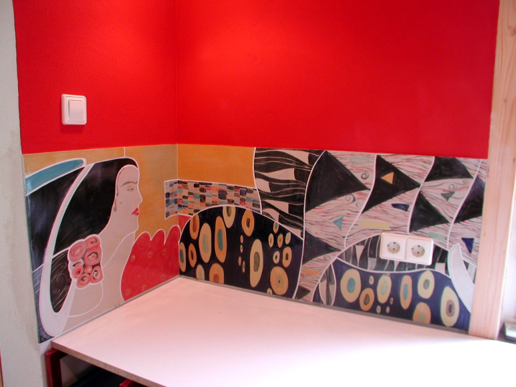 wandfliesen k che. Black Bedroom Furniture Sets. Home Design Ideas