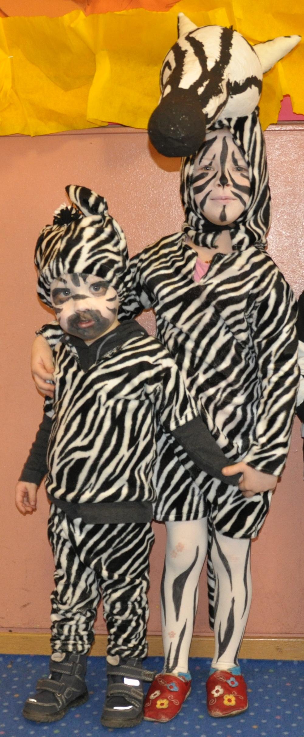 Kostüme 2 Zebras
