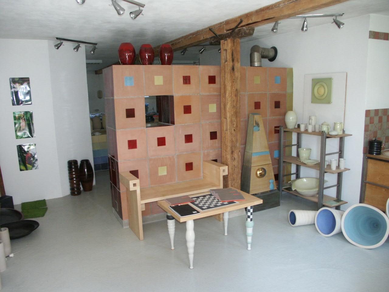 Sitzbank und Schachtisch