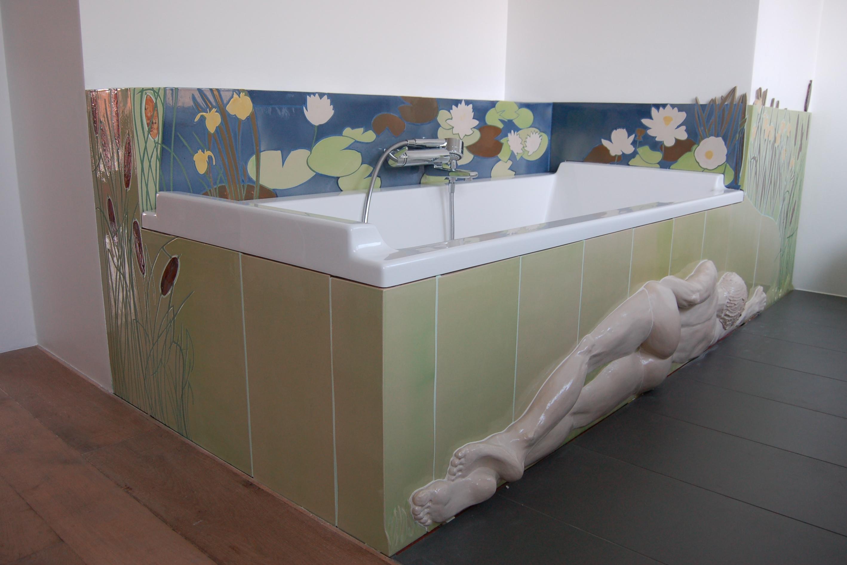 Träumende am Seerosenteich - Badewanne