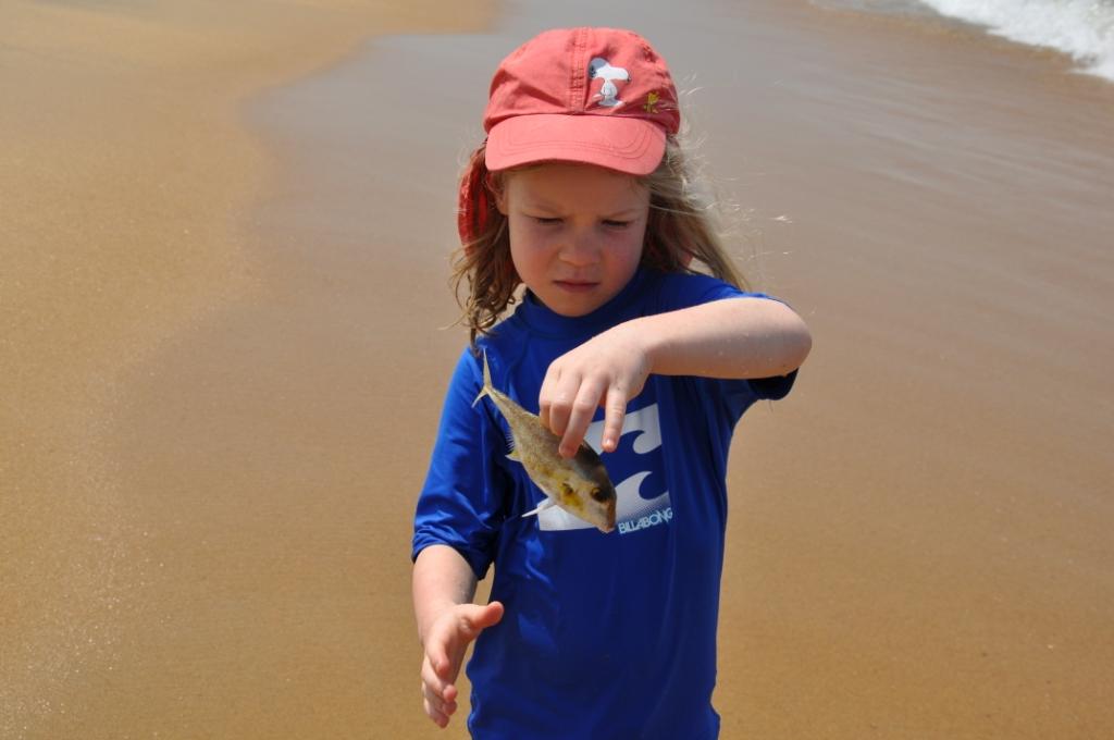 Anouk mit Fisch