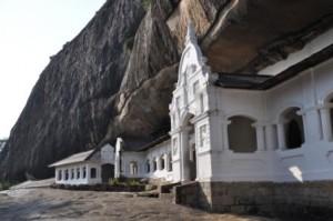 Dambulla Eingang zu den Höhlen