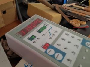 """Der Ofen kühlt ab und hat """"nur noch"""" fast 1.200 Grad..."""